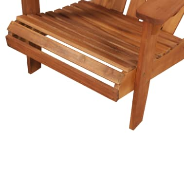 vidaXL Garden Adirondack Chair with Footrest Solid Acacia Wood[5/8]