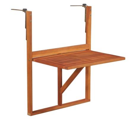 """vidaXL Hanging Balcony Table 51.1""""x35.4""""x28.3"""" Solid Acacia Wood"""