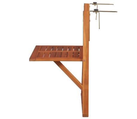 """vidaXL Hanging Balcony Table 51.1""""x35.4""""x28.3"""" Solid Acacia Wood[2/6]"""