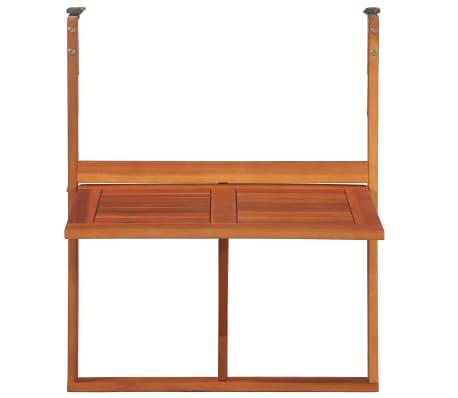 """vidaXL Hanging Balcony Table 51.1""""x35.4""""x28.3"""" Solid Acacia Wood[4/6]"""