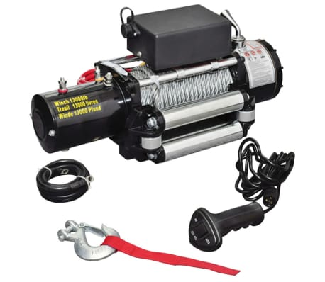 vidaXL Electric Winch 13000 lb 12 V[1/4]