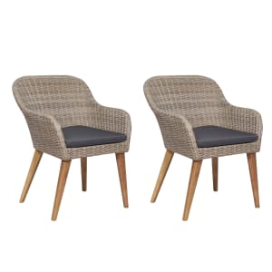 vidaXL 2 db barna polyrattan kültéri szék párnával