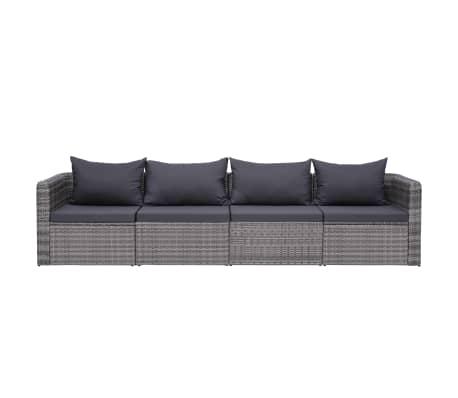 Garden Sofa Set With Cushions Gray