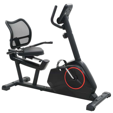 vidaXL Magnetic Recumbent Exercise Bike with Pulse