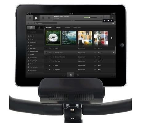 vidaXL Ligfiets hometrainer magnetisch met hartslagmeter[8/13]