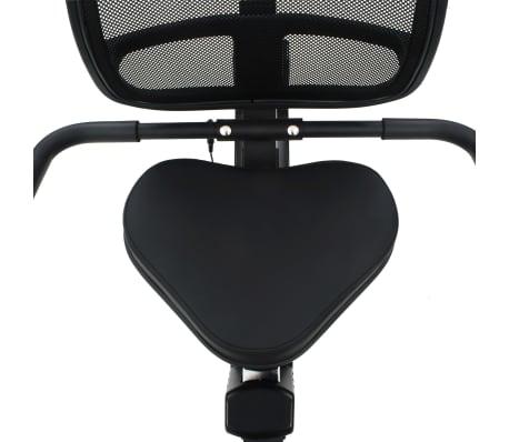 vidaXL Ligfiets hometrainer magnetisch met hartslagmeter[10/13]