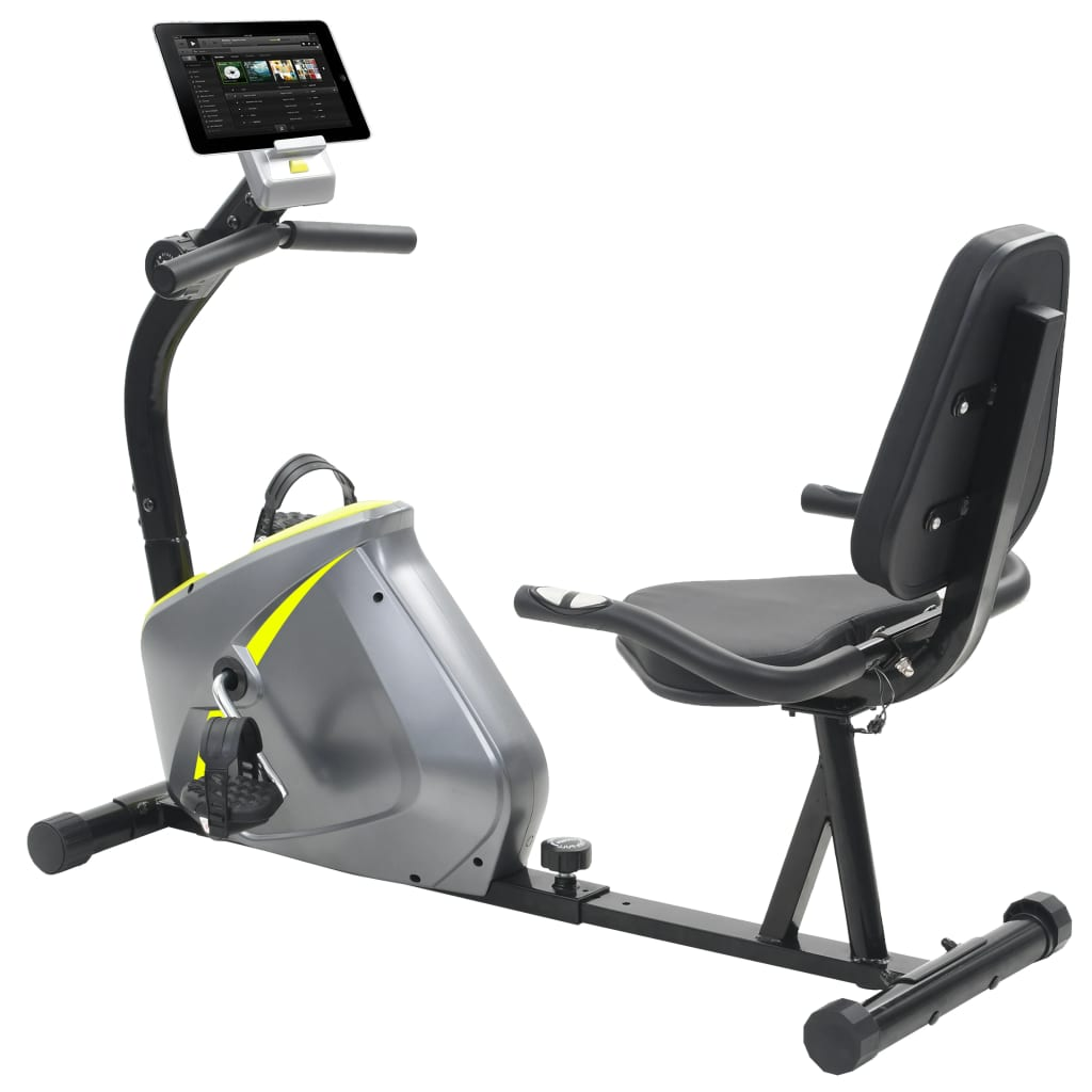 vidaXL Bicicletă de fitness magnetică orizontală cu măsurare puls vidaxl.ro