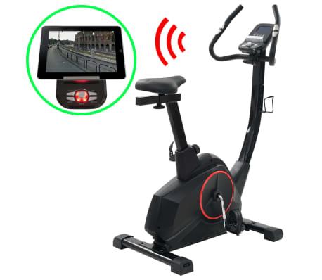 vidaXL Vélo d'appartement programmable Masse rotative 10 kg[1/13]