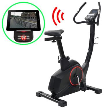 vidaXL Programowalny rower do ćwiczeń z pomiarem tętna[1/13]