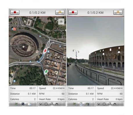 vidaXL Programowalny rower do ćwiczeń z pomiarem tętna[12/13]