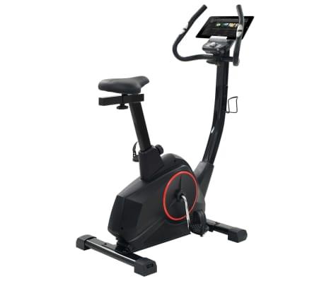 vidaXL Vélo d'appartement programmable Masse rotative 10 kg[5/13]