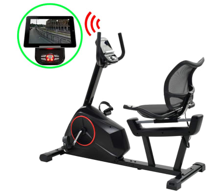 vidaXL Magnetic Recumbent Exercise Bike with Pulse Measurement Programmable[1/13]