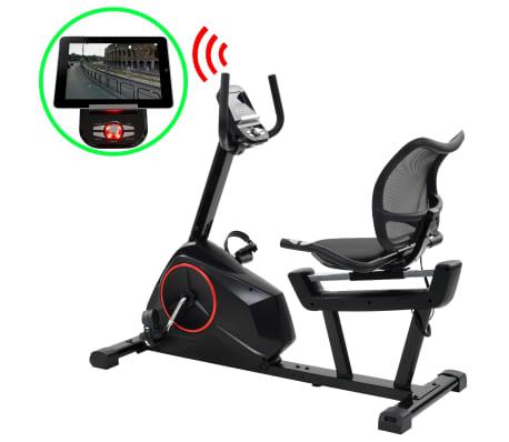vidaXL Ligfiets hometrainer magnetisch met hartslagmeter programmeerbaar