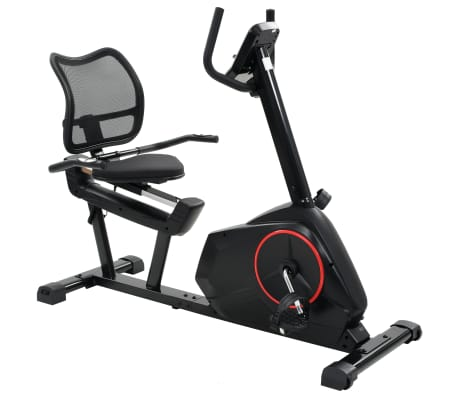 vidaXL Magnetic Recumbent Exercise Bike with Pulse Measurement Programmable[5/13]