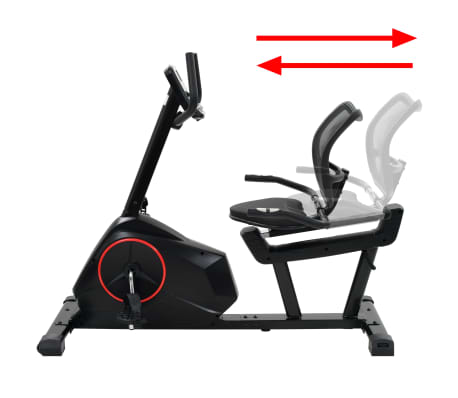vidaXL Magnetic Recumbent Exercise Bike with Pulse Measurement Programmable[8/13]