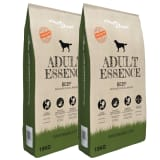 vidaXL Premium Dry Dog Food Adult Essence Beef 2 pcs 30 kg