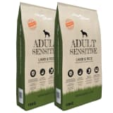 vidaXL Premium Dry Dog Food Adult Sensitive Lamb & Rice 2 pcs 30 kg