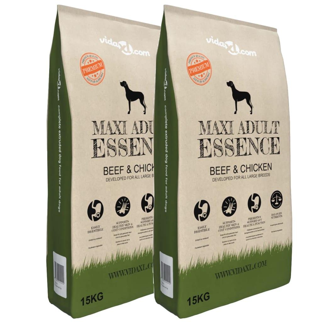 Granule pro psy Maxi Adult Essence Beef & Chicken, 2 ks, 30 kg