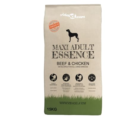 vidaXL Suha hrana za pse Maxi Adult Essence Beef&Chicken 2 vreči 30 kg[2/10]