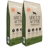 vidaXL Premium Dry Dog Food Adult Active Chicken & Fish 2 pcs 30 kg