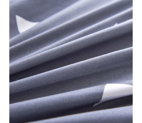 vidaXL Bäddset 3 delar trianglar 200x220/80x80 cm grå[2/3]