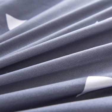 vidaXL Set husă pilotă 3 piese imprimeu triunghi, 200x220/80x80cm, gri[2/3]