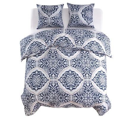 vidaxl 3 tlg bettw sche set klassisch 200x200 60x70 cm marineblau g nstig kaufen. Black Bedroom Furniture Sets. Home Design Ideas