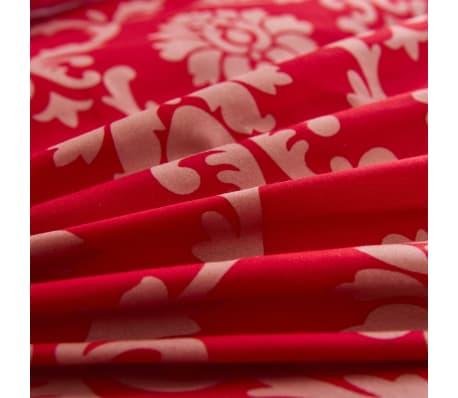 vidaXL Bäddset 2 delar ränder 135x200/80x80 cm röd[2/3]
