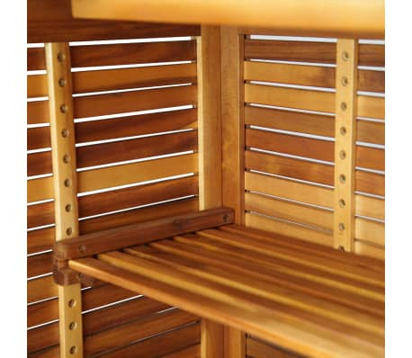 "vidaXL Bar Table Solid Acacia Wood 43.3""x19.7""x41.3""[7/9]"