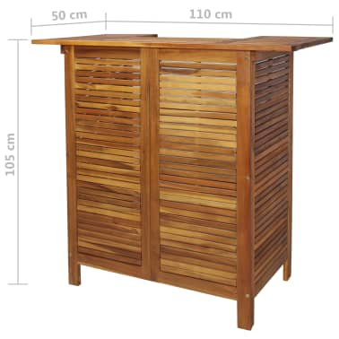 "vidaXL Bar Table Solid Acacia Wood 43.3""x19.7""x41.3""[9/9]"