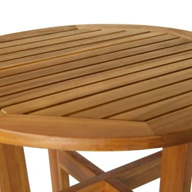 vidaXL 3 Piece Bar Set Solid Acacia Wood[6/8]