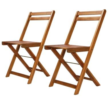 vidaXL Outdoor Bistro Chairs 2 pcs Solid Acacia Wood[1/9]