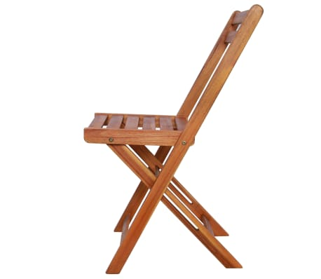 vidaXL Outdoor Bistro Chairs 2 pcs Solid Acacia Wood[4/9]