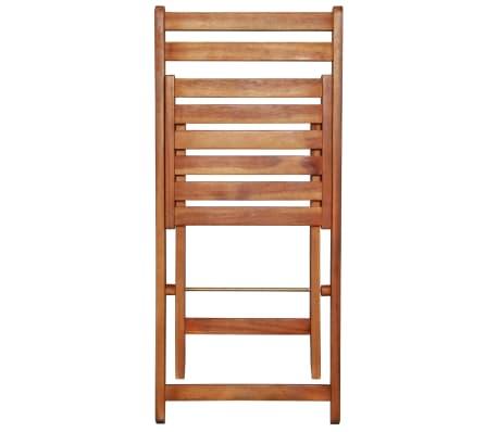 vidaXL Outdoor Bistro Chairs 2 pcs Solid Acacia Wood[5/9]