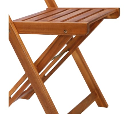 vidaXL Outdoor Bistro Chairs 2 pcs Solid Acacia Wood[8/9]