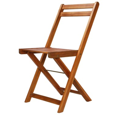 vidaXL Outdoor Bistro Chairs 2 pcs Solid Acacia Wood[2/9]