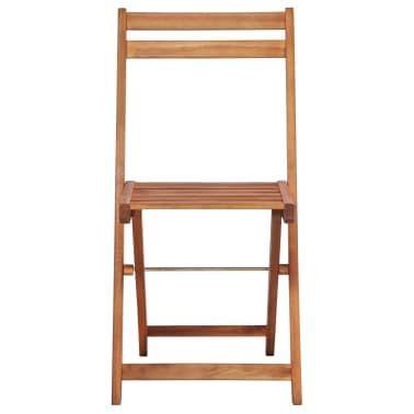 vidaXL Outdoor Bistro Chairs 2 pcs Solid Acacia Wood[3/9]