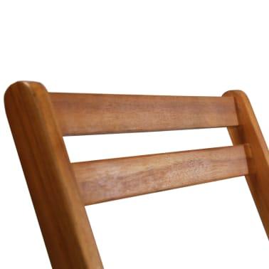 vidaXL Outdoor Bistro Chairs 2 pcs Solid Acacia Wood[7/9]