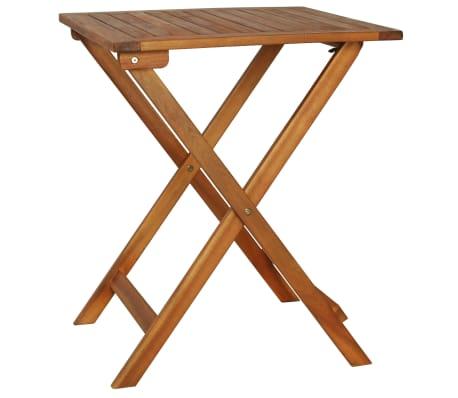 vidaXL Mesa y sillas bistró plegables 3 pzas y cojines madera maciza[2/13]