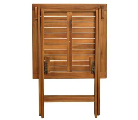 vidaXL Mesa y sillas bistró plegables 3 pzas y cojines madera maciza[3/13]