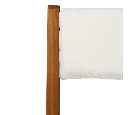 vidaXL Mesa y sillas bistró plegables 3 pzas y cojines madera maciza[9/13]