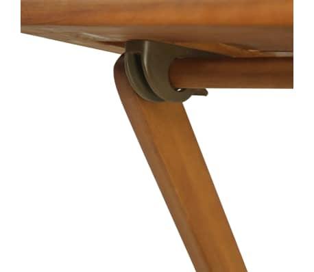 vidaXL Mesa y sillas bistró plegables 3 pzas y cojines madera maciza[10/13]