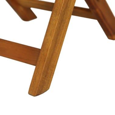 vidaXL Mesa y sillas bistró plegables 3 pzas y cojines madera maciza[11/13]