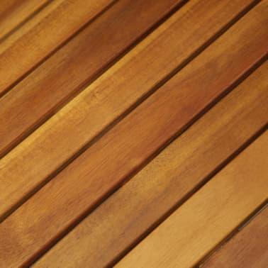 vidaXL Mesa y sillas bistró plegables 3 pzas y cojines madera maciza[4/13]
