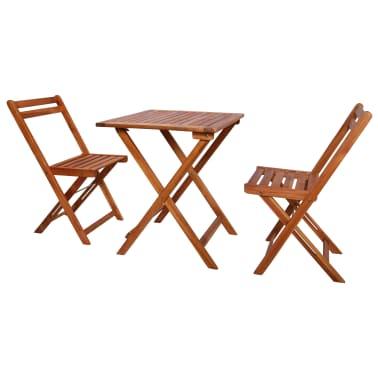 Super Vidaxl 3 Piece Folding Bistro Set Solid Acacia Wood Vidaxl Com Bralicious Painted Fabric Chair Ideas Braliciousco