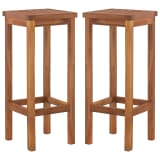 vidaXL Outdoor Bar Chairs 2 pcs Solid Acacia Wood