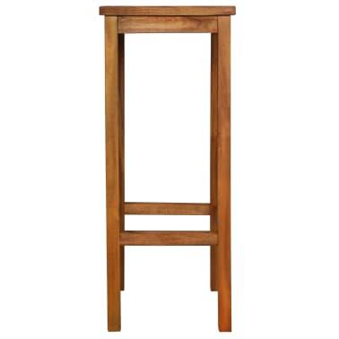 vidaXL Outdoor Bar Chairs 2 pcs Solid Acacia Wood[3/9]