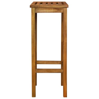 vidaXL Outdoor Bar Chairs 2 pcs Solid Acacia Wood[4/9]