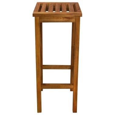 vidaXL Outdoor Bar Chairs 2 pcs Solid Acacia Wood[6/9]