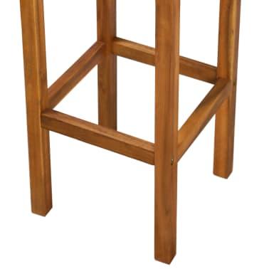 vidaXL Outdoor Bar Chairs 2 pcs Solid Acacia Wood[8/9]